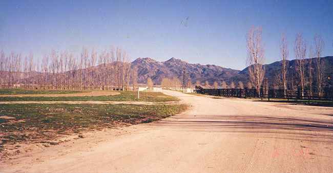 Entrance to Las Flores Ranch